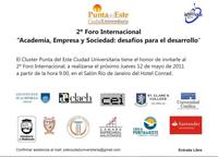 Foro internacional sobre academia, empresa y sociedad