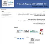 IV Escuela Regional Most/Unesco